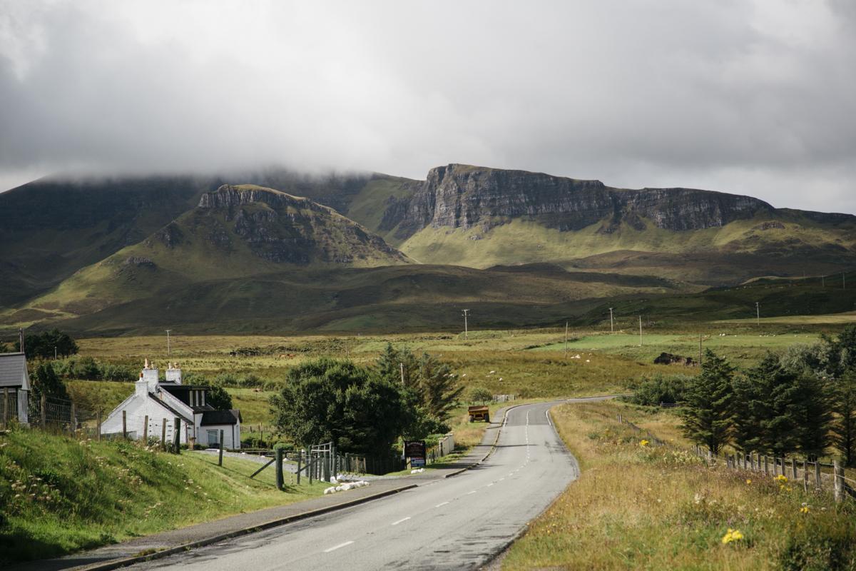 Route sur l'île de Skye