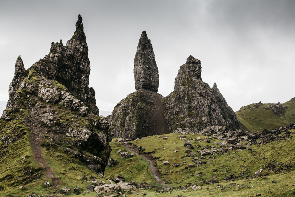 Old man of Storr sur l'île de Skye